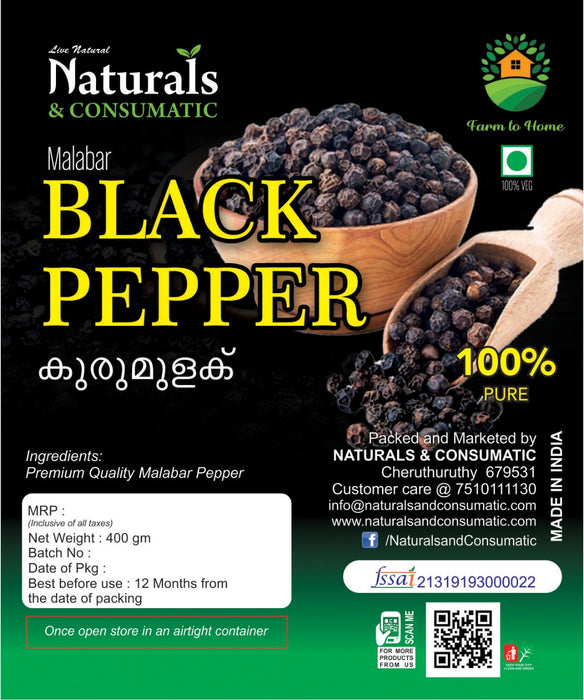 Kerala Special Extra Bold Black Pepper / Kali Mirch Whole