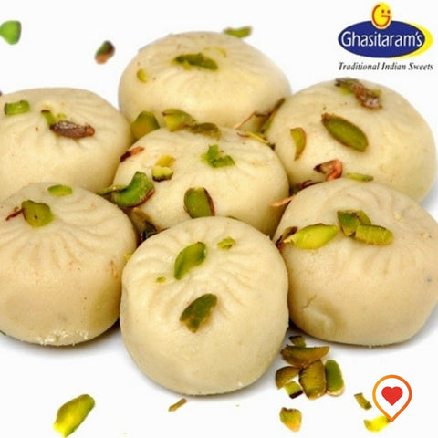 Peda is delicious sweet made from milk and sugar, In India it is also considered as an auspicious sweet, so it also served as prasad or prasadum in many parts of India