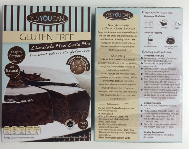 Yes You Can Chocolate Mudcake Mix