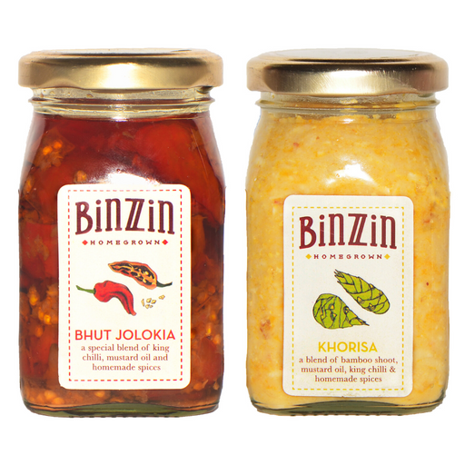 Pickle Combo - Bhut Jolokia Pickle and Khorisa Pickle