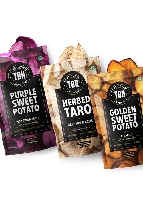 Purple Sweet Potato, Taro, Golden Sweet Potato Chips