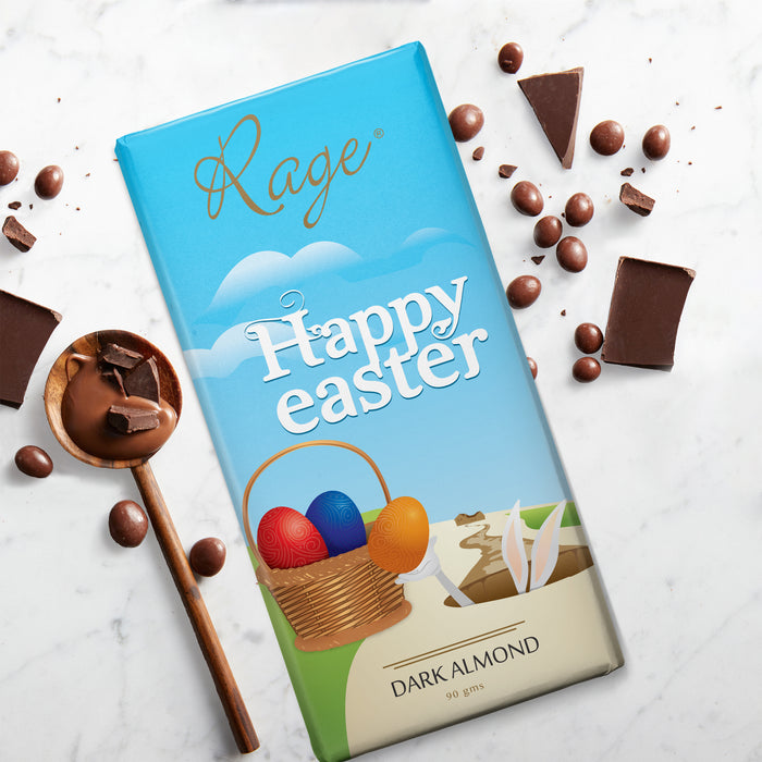 Happy Easter-Dark Almond Chocolate Bar