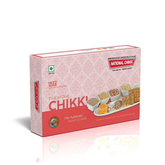 5 in 1 Chikki (Gnut Crush, Gnut, Channa, Til, Coconut)