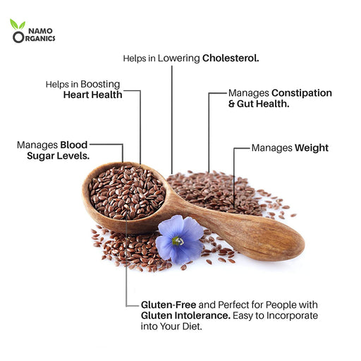 Namo Organics Flax Seeds - Fibre and Omega-3 Rich Superfood