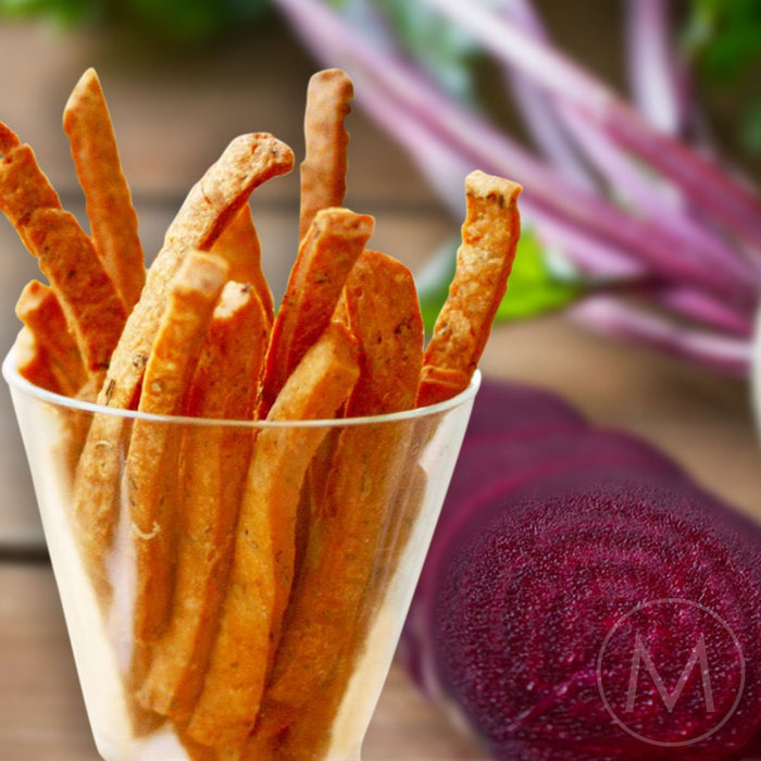 Beetroot Mathri Sticks