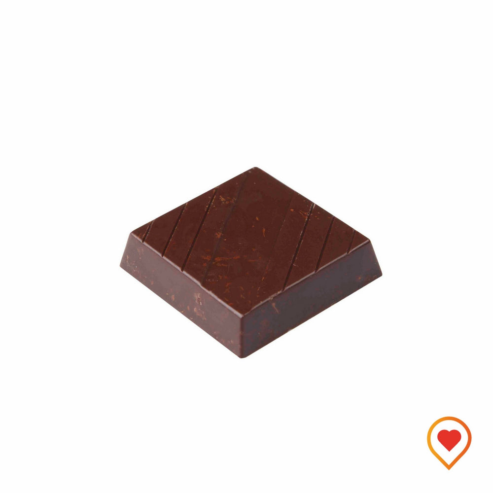 65% cocoa with maltitol makes a great sugarfree delite. Added with roasted almond