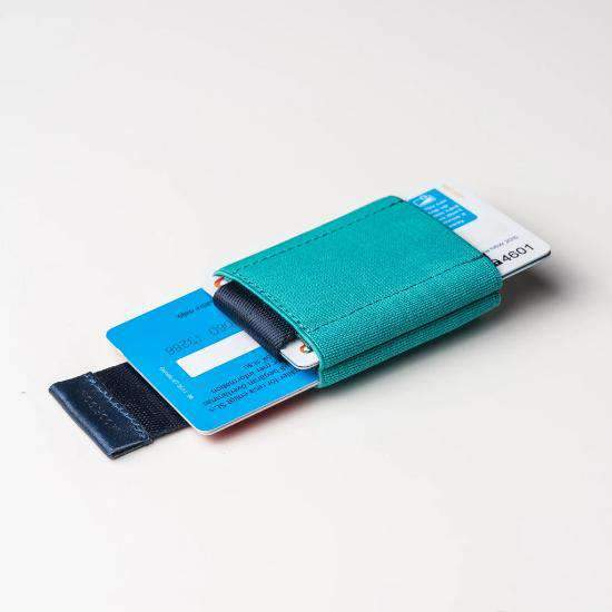 Cartera Minimalista Mint Blue