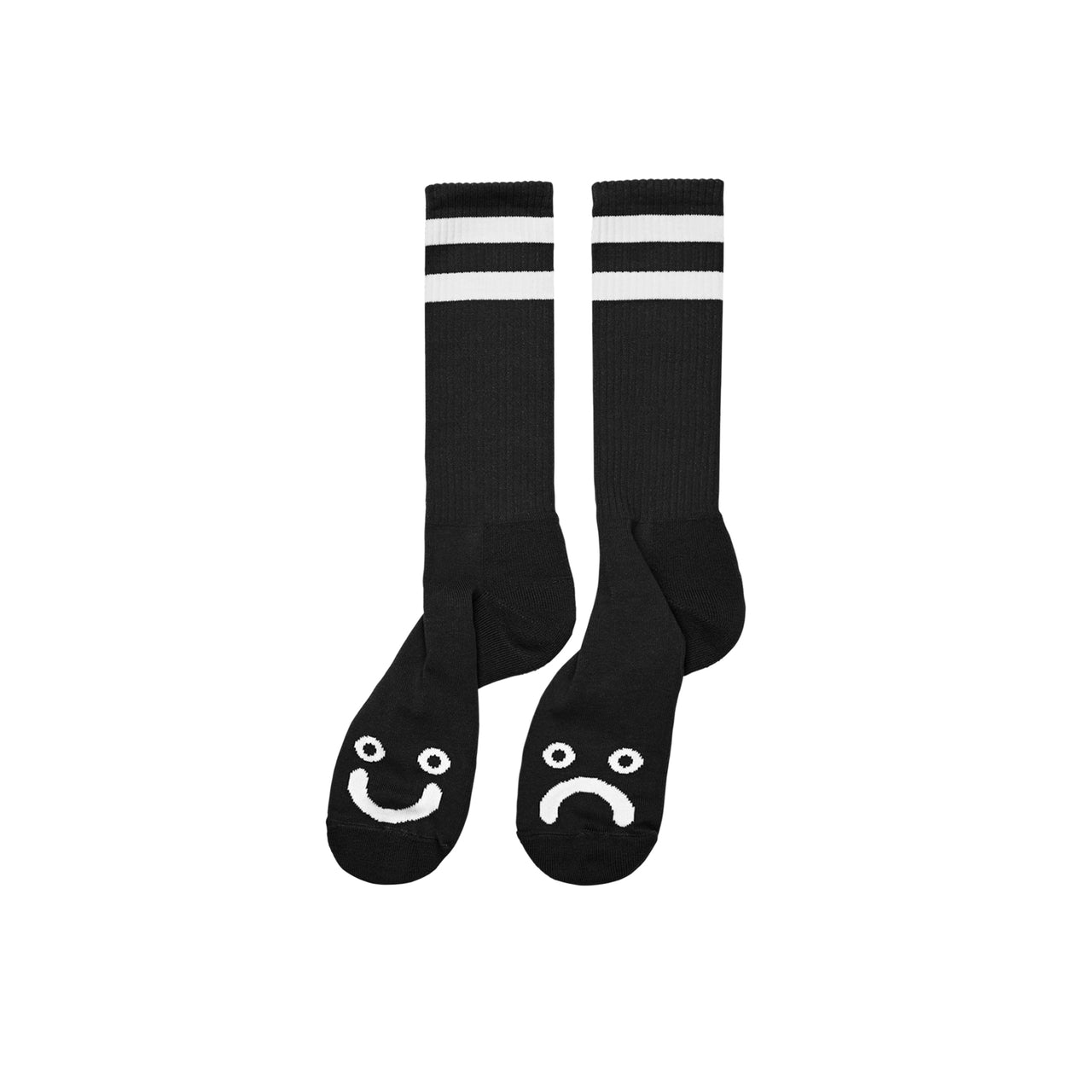 Happy Sad Socks - Long - Black