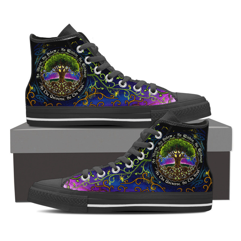 As Above So Below High Top Shoes