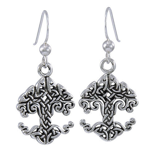 Cari Buziak Silver Celtic Knotwork Tree of Life Earrings