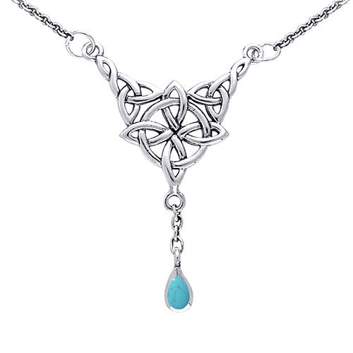 Silver Celtic Witches Knot Necklace