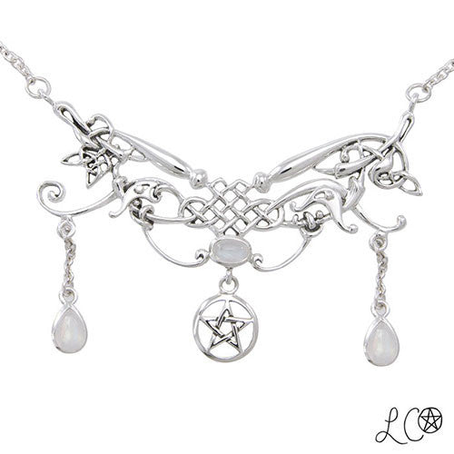 Laurie Cabot Celtic Fairy Queen Pentacle Necklace
