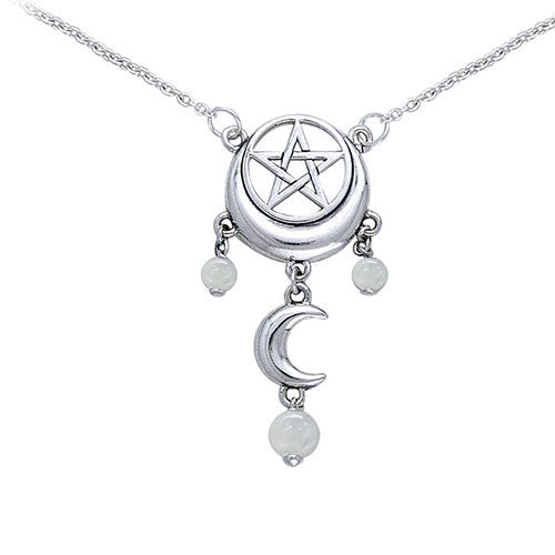 Silver Magick Moon Necklace