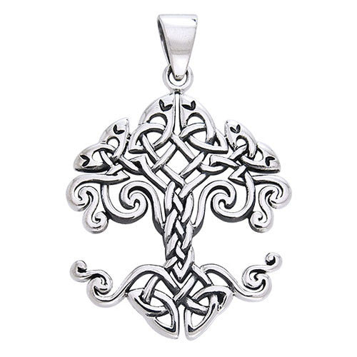 Cari Buziak Silver Celtic Knotwork Tree of Life Pendant
