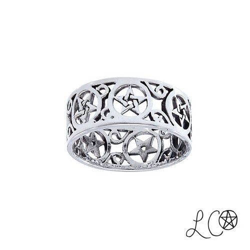 Laurie Cabot Pentacle Filligree Ring