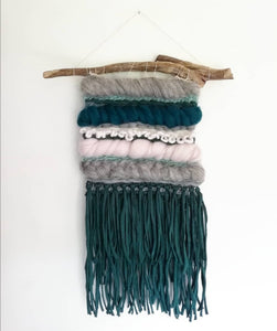 Green and Neutrals Wallhanging