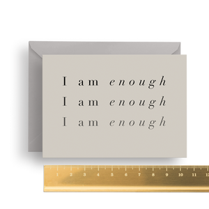 Mantra Notecard - Enough