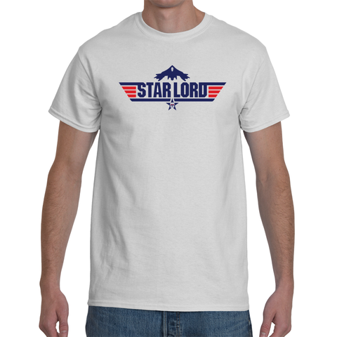 Star Lord Top Gun Logo - Guardians of the Galaxy 2 Inspired T-Shirt