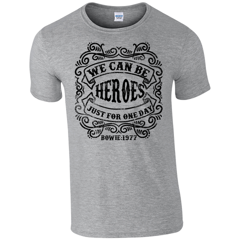 David Bowie Inspired 'Heroes Lyrics Quote' Unisex T-Shirt