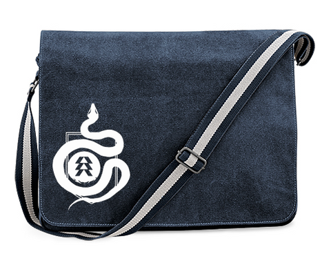 Destiny 2 Hunter Snake Logo Inspired Vintage Blue Canvas Despatch Bag