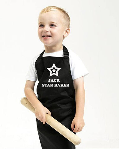 Aprons - Personalised Star Baker Kids Apron - Ages 3 - 10 Years Old