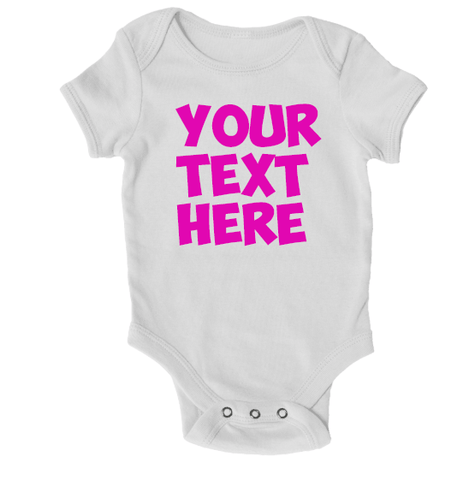 Baby Grows - Personalised Baby Grow - Any Text Or Image!