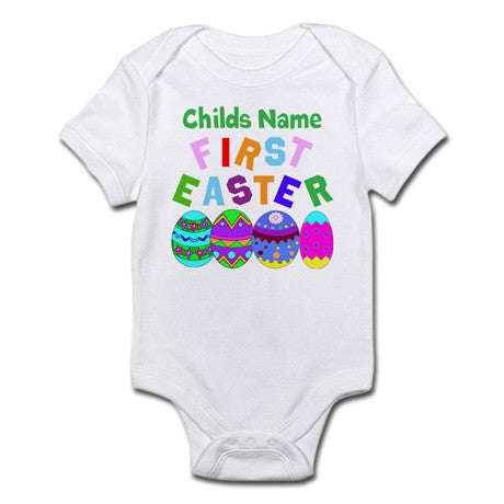 Baby Grows - Personalised Baby's First Easter Baby Grow