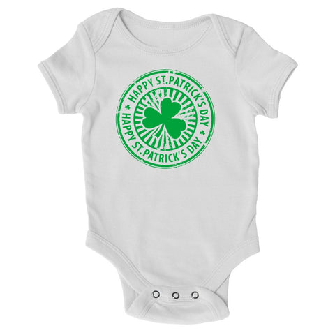 Baby Grows - St Patricks Day Crest - St Patricks Day Baby Grow
