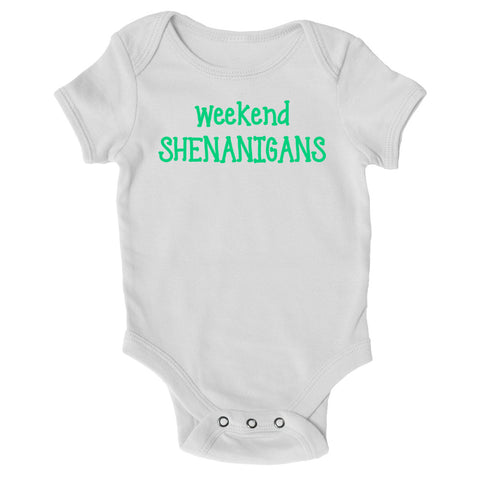 Baby Grows - Weekend Shenanigan's - St Patricks Day Baby Grow