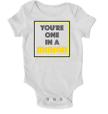 Baby Grows - You're One In A Minion Baby Grow