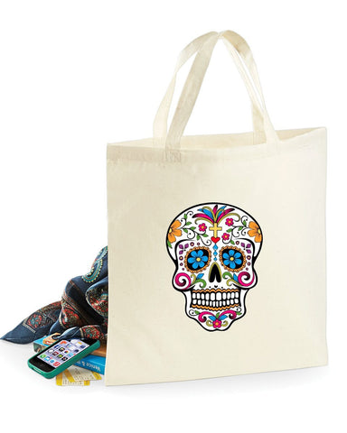 Bags - Day Of The Dead Skull - Bag For Life