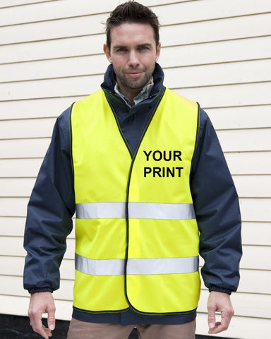 Hi-Vis Jacket - Personalised Adult High Visibility Safety Waistcoat Vest Hi Viz EN471 Class 2
