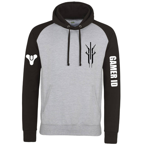 Hoodies - Destiny Inspired Houses Of Destiny Black/Grey Baseball Hoodie