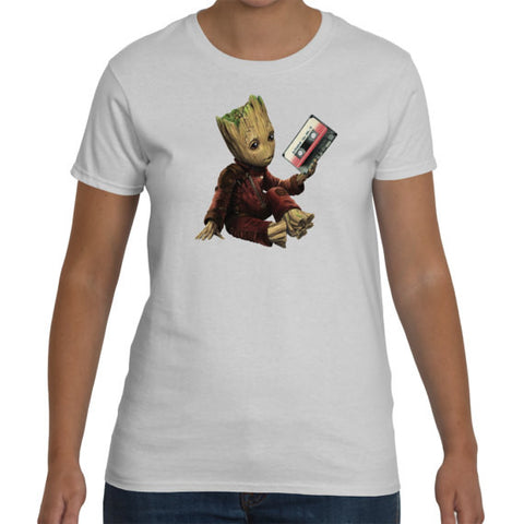 Guardians Of The Galaxy 2 - Groots Mix Tape Ladyfit Tee
