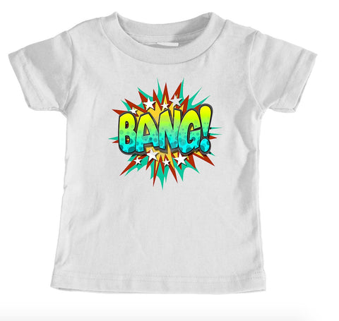 Kids Tees - Bang Superhero - Kids T-Shirt Ages 1/2 - 12/14 Years Old