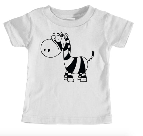 Kids Tees - Funny Zebra - Kids T-Shirt Ages 1/2 - 12/14 Years Old