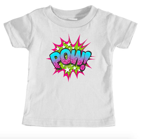Kids Tees - POW! Superhero - Kids T-Shirt Ages 1/2 - 12/14 Years Old