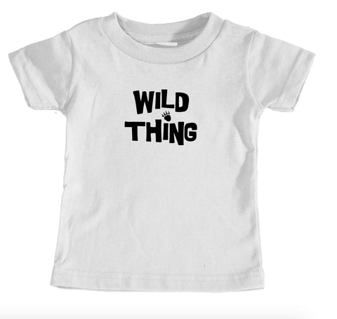 Kids Tees - Wild Thing Animal Paw Print - Kids T-Shirt Ages 1/2 - 12/14 Years Old