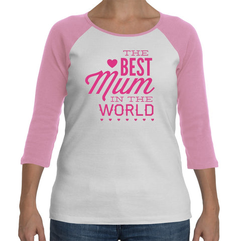 T-Shirts - Best Mum In The World Mothers Day Ladyfit Long-sleeve T-Shirt