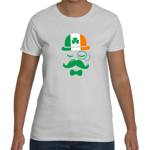 T-Shirts - Irish Hat Face- St Patricks Day Unisex Or Ladyfit T-Shirt