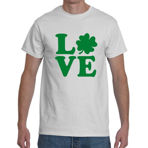 T-Shirts - Love Shamrock - St Patricks Day Unisex Or Ladyfit T-Shirt