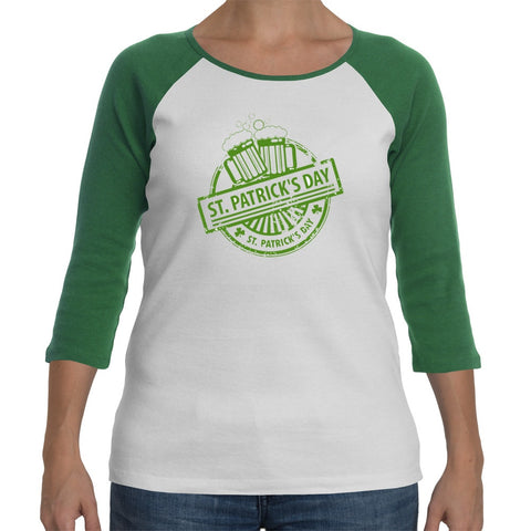 T-Shirts - St Patricks Day Crest -  St Patricks Day Ladyfit Long-sleeve T-Shirt