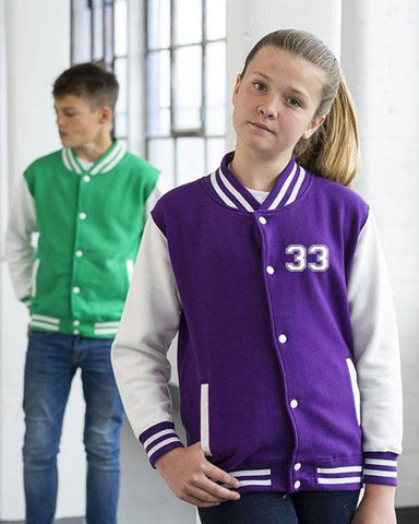Varsity Jackets - Kids Personalised Varsity Jacket