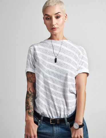 Black Brand Type All Over Print Women's Tee