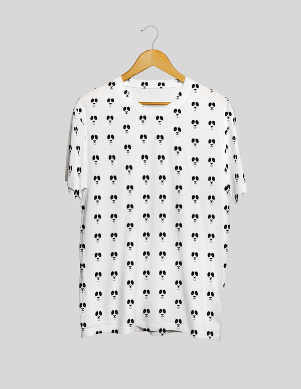 Black Panda's All Over Print Women's Tee