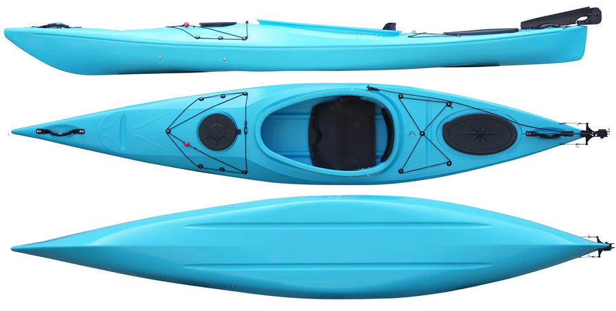 Cambridge Kayak Adventure 350 Touring Kayak Light Blue