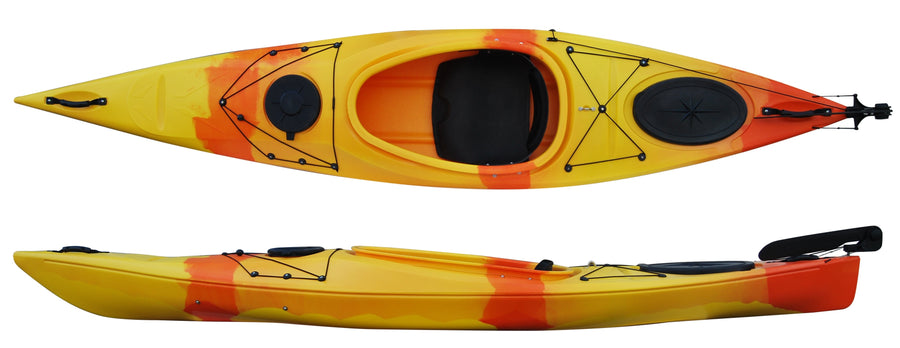 Cambridge Kayak Adventure 350 Touring Kayak Orange and Yellow