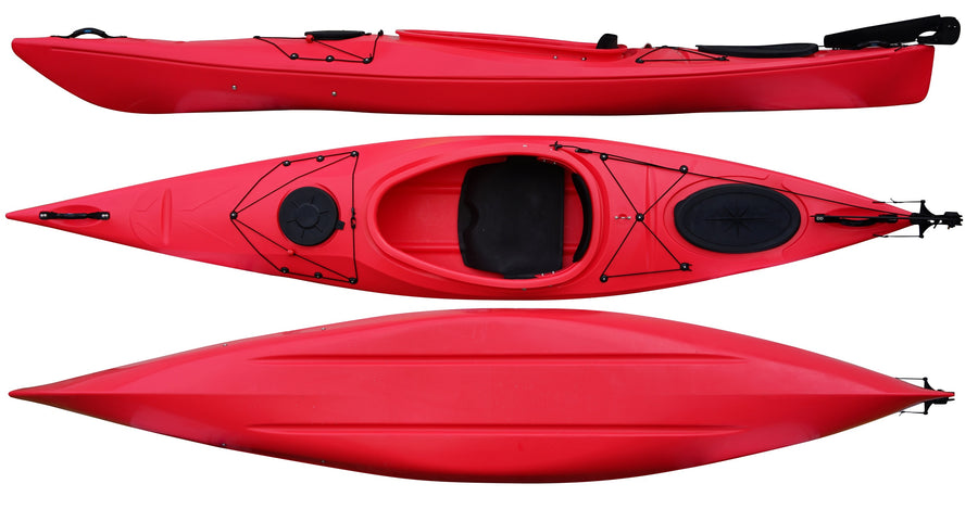 Cambridge Kayak Adventure 350 Touring Kayak Red