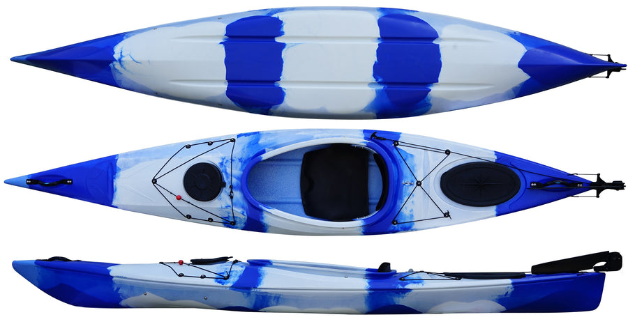 Cambridge Kayak Adventure 350 Touring Kayak Blue and White