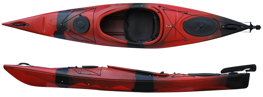 Cambridge Kayak Adventure 350 Touring Kayak Re and Black